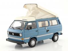 Volkswagen VW T3a Joker camper with folding roof medium blue / white 1:18 Schuco