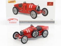 Bugatti Type 35 Grand Prix #11 Nation Colour Project Italy 1:18 CMC