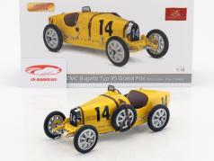 Bugatti Type 35 Grand Prix #14 Nation Colour Project Belgium 1:18 CMC