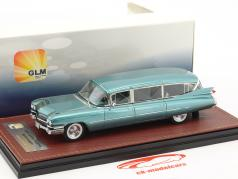 Cadillac Superior Stationwagon year 1959 light blue metallic 1:43 GLM