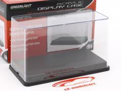 Acryl Vitrine con nero plastica base per modelli in scala 1:64 Greenlight