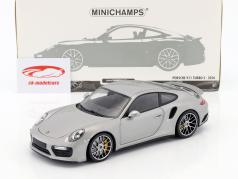 Porsche 911 (991 II) Turbo S Baujahr 2016 silber 1:18 Minichamps