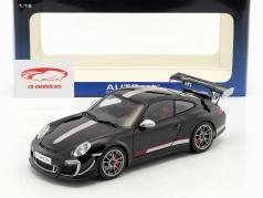 Porsche 911 (997) GT3 RS 4.0 Année 2011 noir / argent 1:18 AUTOart