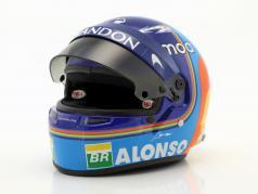 Fernando Alonso #14 McLaren F1 Team formula 1 2018 helmet 1:2 Bell