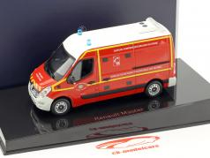 Renault Master pompiers VSAV année de construction 2014 rouge / blanc / jaune 1:43 Norev