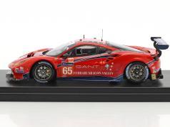 Ferrari 488 GTE #65 24h LeMans 2017 Nielsen, Balzan, Curtis 1:43 LookSmart