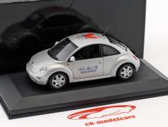 Volkswagen VW New Beetle Toy Fair Nürnberg 1999 argento 1:43 Minichamps