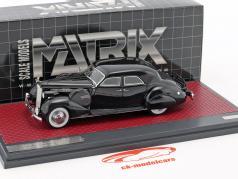 Packard Super 8 Sport Sedan by Darrin Baujahr 1940 schwarz 1:43 Matrix