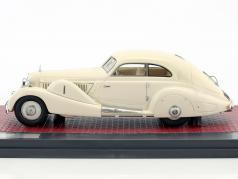 Mercedes-Benz 500K Spezial-Stromlinienwagen Tan Tjoan Keng Baujahr 1935 weiß 1:43 Matrix