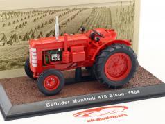 Bolinder Munktell 470 Bison Traktor Baujahr 1964 rot 1:32 Atlas