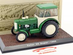 Zetor 50 Super tractor year 1966 green / white 1:32 Atlas
