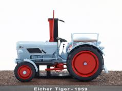 Eicher Tiger tractor year 1959 light blue 1:32 Atlas