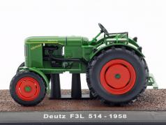 Deutz F3L 514 tractor year 1958 green 1:32 Atlas