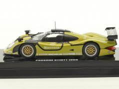 Porsche 911 GT1 #1 Test Car 1998 grün / schwarz 1:64 Kyosho