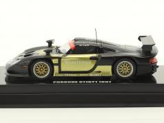 Porsche 911 GT1 #1 Test Car 1997 schwarz / gold 1:64 Kyosho