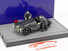 Fabrica Ferrari Maranello 1947: Ferrari 125S avec deux mécanique noir / blanc 1:43 Brumm
