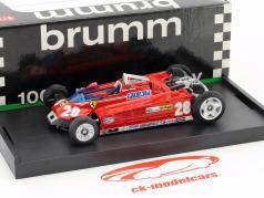 Didier Pironi Ferrari 162CK #28 4 ° monaco GP formula 1 1981 versione Trasporti 1:43 Brumm