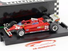 Didier Pironi Ferrari 126CK #28 4 Monaco GP formule 1 1981 1:43 Brumm