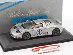 Bugatti EB 110 Super Sports #1 silver 1:43 Minichamps