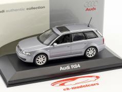 Audi RS4 silver blue metallic 1:43 Minichamps