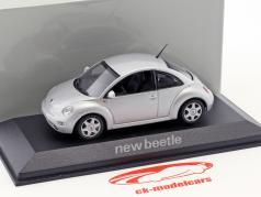 Volkswagen VW Beetle silver 1:43 Minichamps