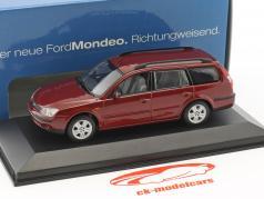 Ford Mondeo Turnier year 2001 red metallic 1:43 Minichamps