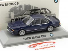 BMW M 635 CSi (E24) Construction year 1984-1989 blue metallic 1:43 Minichamps