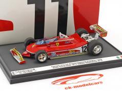 Jody Scheckter / Gilles Villeneuve Ferrari 312 T4 présentation Fiorano formule 1 1979 1:43 Brumm
