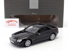 Mercedes-Benz SL 500 (R230) black 1:18 Minichamps