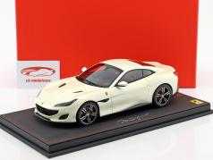 Ferrari Portofino year 2017 fuji white 1:18 BBR