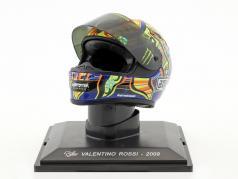 Valentino Rossi Weltmeister MotoGP 2009 Helm 1:5 Altaya