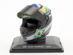 Alex Barros MotoGP 2007 Last Race casque 1:5 Altaya
