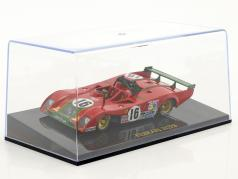 Ferrari 312 PB #16 2nd 24h LeMans 1973 Merzario, Pace with showcase 1:43 Altaya
