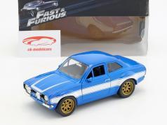 Brian's Ford Escort RS2000 MKI Fast & Furious 6 2013 bleu / blanc 1:24 Jada Toys
