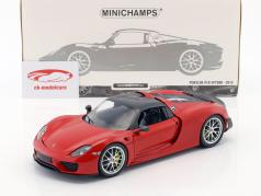 Porsche 918 Spyder Weissach Package année de construction 2015 rouge 1:18 Minichamps
