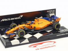 Fernando Alonso McLaren F1 Team #14 formule 1 2018 showcar 1:43 Minichamps