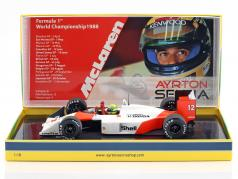 Ayrton Senna McLaren MP4/4 #12 champion du monde Japon GP F1 1988 1:18 Minichamps