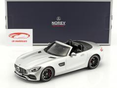 Mercedes-Benz AMG GT C Roadster Baujahr 2017 silber 1:18 Norev
