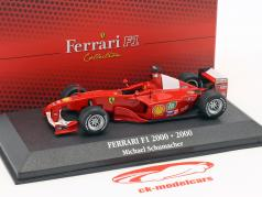 Michael Schumacher Ferrari F1-2000 #3 World Champion formula 1 2000 1:43 Atlas