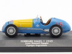 Juan Manuel Fangio Ferrari 166FL #16 formula 1 1949 1:43 Atlas