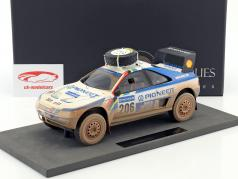 Peugeot 405 T16 Dirty Version #206 2nd Paris - Dakar 1989 Ickx, Tarin 1:18 TopMarques