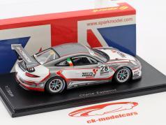 Porsche 911 GT3 Cup #28 Champion Porsche Carrera Cup Großbritannien 2017 C. Eastwood 1:43 Spark