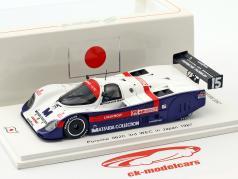 Porsche 962C #15  3rd WEC in Japan 1987 Baldi, Thackwell 1:43 Spark
