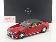 Mercedes-Benz Maybach S 650 Cabriolet with removable Top designo zircon red 1:18 Norev