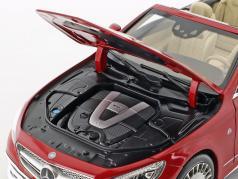 Mercedes-Benz Maybach S 650 cabriolet con removibile top designo zircone rosso 1:18 Norev