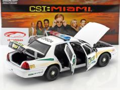 Ford Crown Victoria Police Interceptor année de construction 2003 Série TV CSI: Miami (2002-2012) blanc 1:18 Greenlight