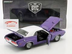Dodge Challenger R/T anno di costruzione 1970 show televisivo Graveyard Carz (since 2012) viola / bianco 1:18 Greenlight