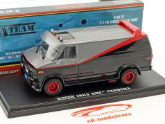 B.A.'s GMC Vandura année de construction 1983 Série TV la A-Team (1983-87) noir / rouge / gris 1:43 Greenlight