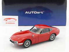 Toyota 2000 GT Coupe Baujahr 1965 rot 1:18 AUTOart
