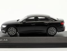 Audi A6 C8 berline mythe noir 1:43 iScale